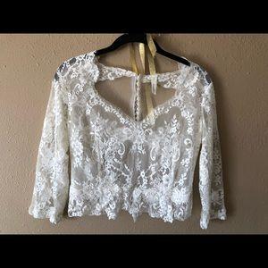 Dresses & Skirts - mignonette bridal sample top
